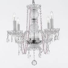 Pink Chandelier Light Pink Chandelier Ebay