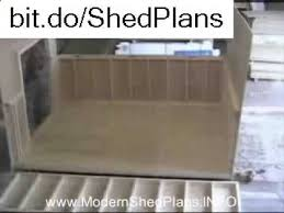 shed plans how to build a shed 10x10 shed plans youtube
