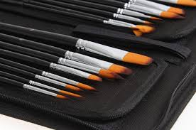 Makeup Artist Supplies Oem 15 Pcs Art Supply Artist Oil Nylon Paint Brush Set Art Paint