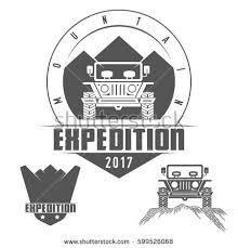 jeep black emblem mountain expedition jeep emblem shield logo stock vector 599526068