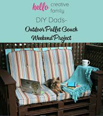 Patio Furniture Made Of Pallets by Diy Dads Diy Outdoor Pallet Couch Weekend Project Hello