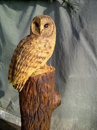 owl wood carving chainsaw carved sculptures gallery bears fawns hares owls foxes