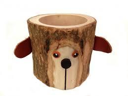rustic pencil holder bear bark wood pencil cup tree bark pen
