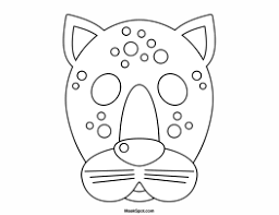 leopard mask to color teatro mascaras 1 pinterest leopards