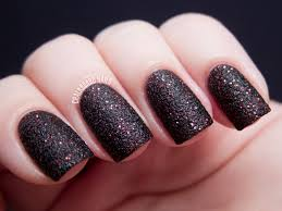 54 black nails with design matte blue gray nail polish with white