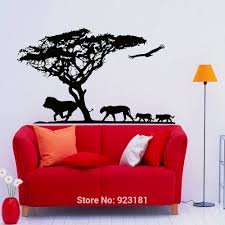 compare prices on safari wall mural online shopping buy low price safari animal jungle lion wall art sticker decal home diy decoration wall mural stickers removable bedroom