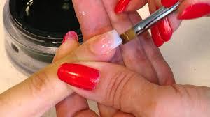flash uv gel nail extensions using nail tips youtube