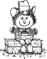 scarecrow coloring pages kindergarten toddlers hay man clothes