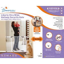 Extra Wide Gate Pressure Mounted Dreambaby Liberty Stay Open Gate