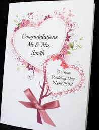 congratulations on wedding card large handmade personalised bouquet of hearts congratulations