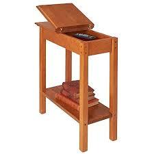 golden oak end tables amazon com manchester wood chairside storage table golden oak