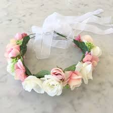 flower crowns blushing pink flower crown arabella