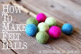 how to make felt balls felting 101