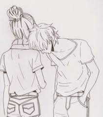 cute couple sketches to draw in color drawing art ideas
