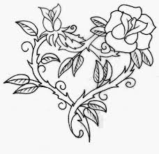 rose heart pattern paintable mouse pad rose stencil tattoo