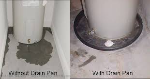 water heater drain pans when are they required