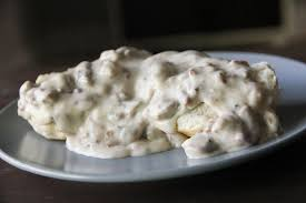 smoked brisket cream gravy with buttermilk biscuits recipe