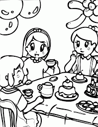 alice in wonderland color pages printable tea party coloring pages coloring home