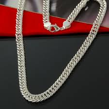 big chain necklace silver images Cool silver plated necklace men jewelry wholesale fashion silver jpg