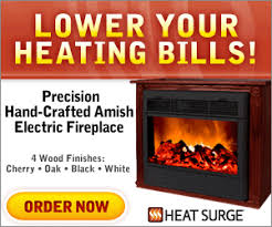 Amish Electric Fireplace Heat Surge Amish Fireplace As Seen On Tv