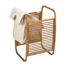 Canvas Laundry Hamper by Compact Bamboo Laundry Hamper Clotheslines Com