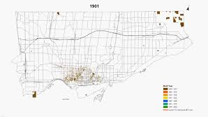Ttc Map Maps Of The Urban Growth Of The City Of Toronto Feb 2014