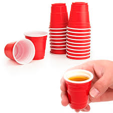 disposable cups 48 cups 2 fl oz plastic glasses mini disposable