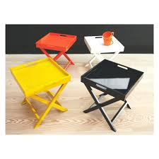 Small Folding Side Table Side Table Wooden Folding Side Table Neon Orange Small Wooden