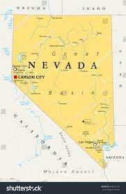 Sahel Desert Map Nevada Political Map Capital Carson City Stock Vector 545962126