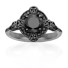 black diamonds rings images Deco black diamond ring iz co png