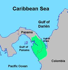 south america map rainforest darién gap