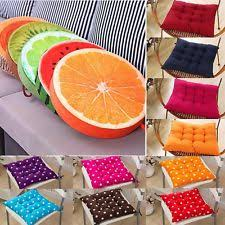 Tie On Chair Cushions Round Chair Pads Ebay