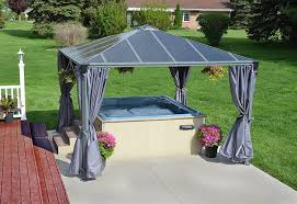 Outdoor Patio Gazebos by Palram Palermo 3600 Grey Garden Gazebo Robust Structure For Year