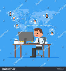 Work From Home Graphic Design Remote Team Working Concept Work Home Stock Illustration 450521314