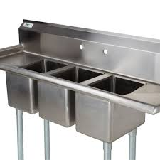 used 3 compartment stainless steel sink furniture 3 compartment sink with 2 drainboards commercial