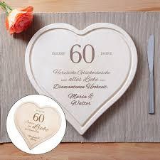 60 hochzeitstag geschenke graviertes holzherz zur diamantenen hochzeit individuell mit
