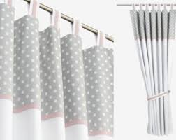 White With Pink Polka Dot Curtains High End Bespoke Minimalist Children U0027s Curtains By Dottystripesuk