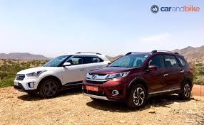 honda car comparison comparison review honda br v vs hyundai creta ndtv carandbike