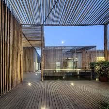 aeccafe tea house bamboo courtyard in yangzhou china by hwcd