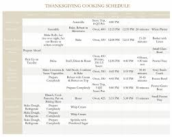 planner for big dinner with oven schedule she s using it