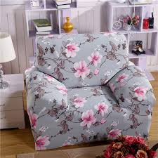 aliexpress com buy printed sofa cover grey flower couch cover