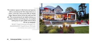house review outdoor living spaces professional builder recognition tongue groove custom home builder