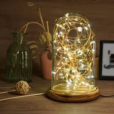 sanyi modern table lamp coffee shop table light glass cover wood