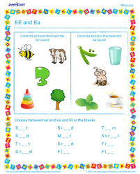 ee and ea u2013 beginner phonics worksheet to teach confusing sounds