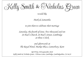 groom to wedding card informal wedding invitation wording from and groom