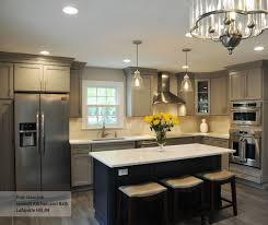 blue gray stained kitchen cabinets gray cabinets blue kitchen island schrock