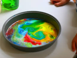 easy science experiment for little kids diy rainbow milk art