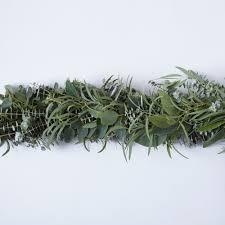 mixed eucalyptus garland on food52