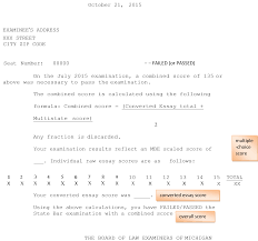 Report Essay Format What Your Michigan Bar Exam Score Report Means Jd Advising Llc