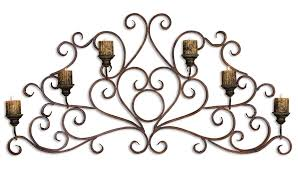 iron scroll wall art candle sconces for the wall candle wall decor in good style